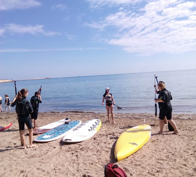 SUP Activacostablanca offers lessons to learn the new trendy sport here on the coast, Paddle Surf.