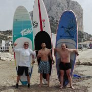 2 brave brothers from Benissa tried for the 1. time Paddle Surfing in Calpe!