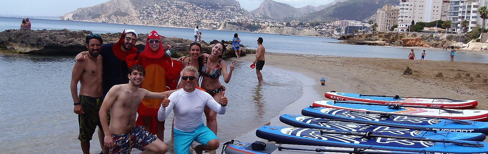 We organize stag nights in Calpe going for SUP