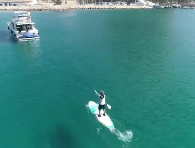 Stand Up Paddle Surf en España grabado con Dron