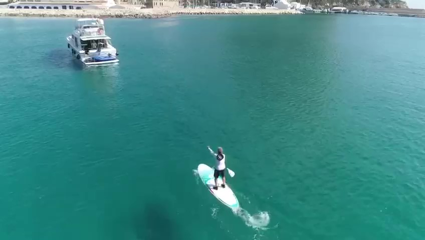 Stand Up Paddle Surf in Spain filmed by Drone